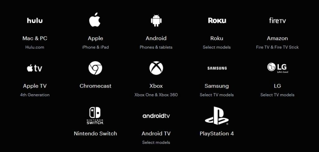 Hulu TV supported devices