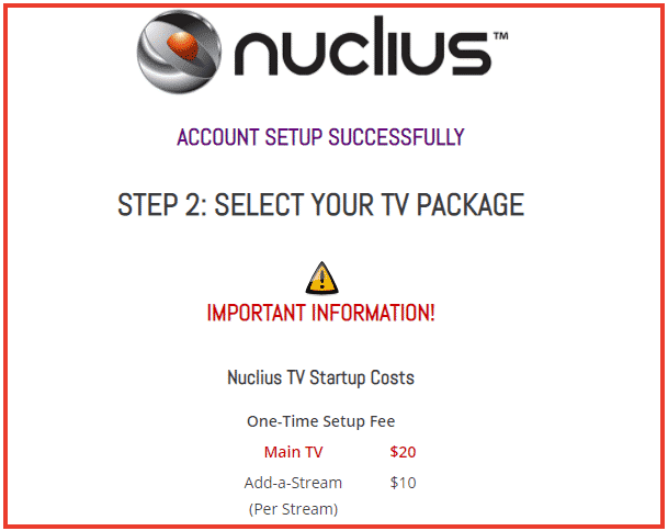 Choose the Nuclius TV package