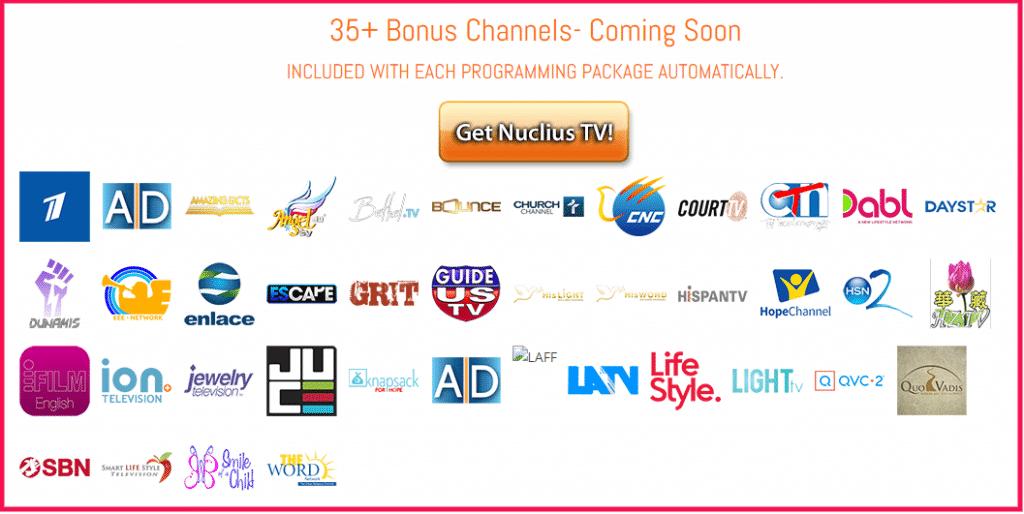 Nuclius TV bonus channels
