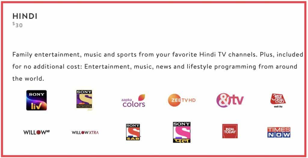 Sling International Hindi Package