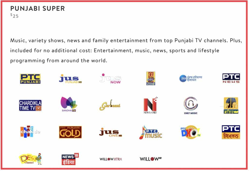 Sling International package Punjabi super