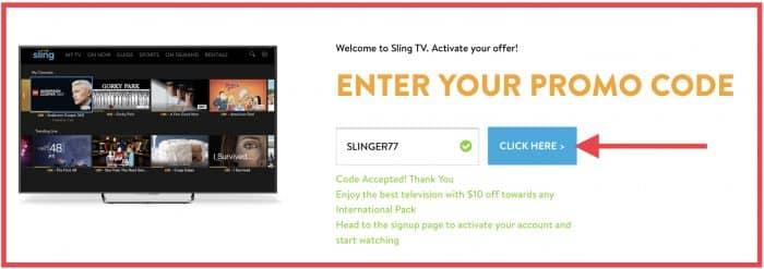 Sling TV international promo codes