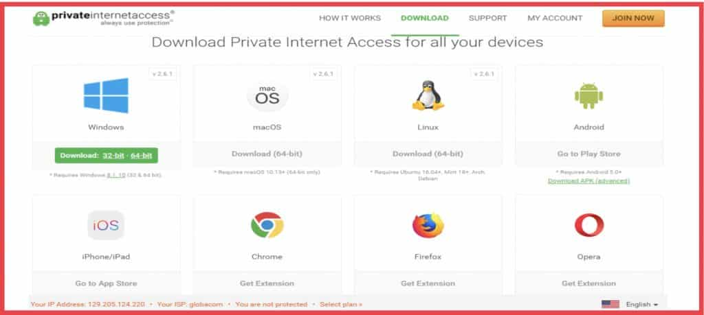 Download PIA VPN