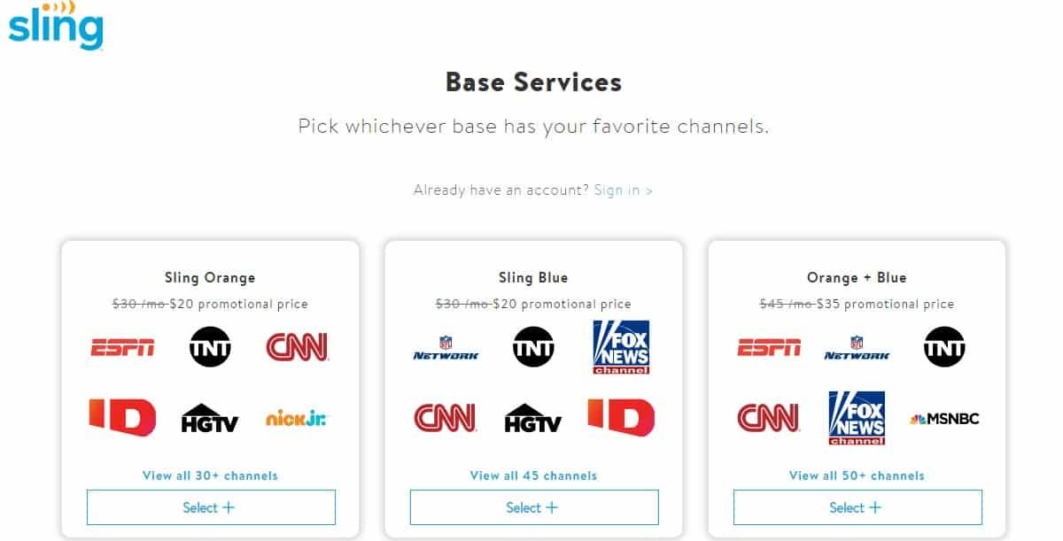 Choose sling subscription