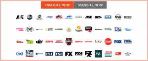 Vidgo TV english Channels