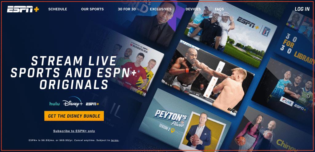 ESPN plus bundle subscription